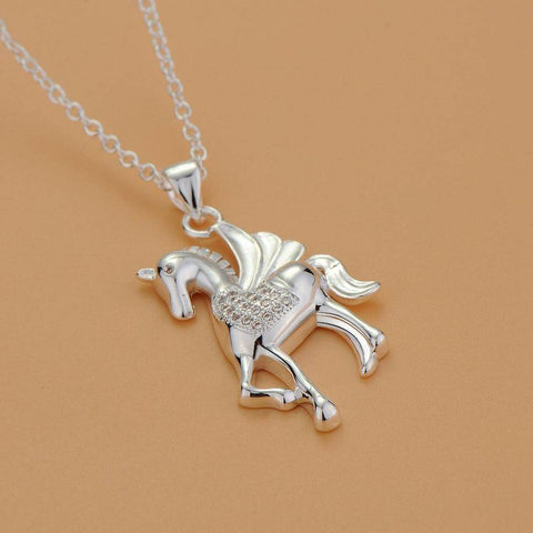 Pegasus Sterling Silver Necklace