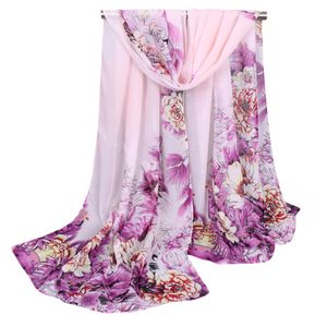 ON SALE - Dreamy Floral Chiffon Scarf