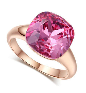 ON SALE - Perfectly Pink Austrian Crystal Cocktail Ring