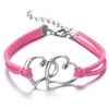 Image of ON SALE - Sweet Hearts Suede Friendship Bracelet in Eight Colors