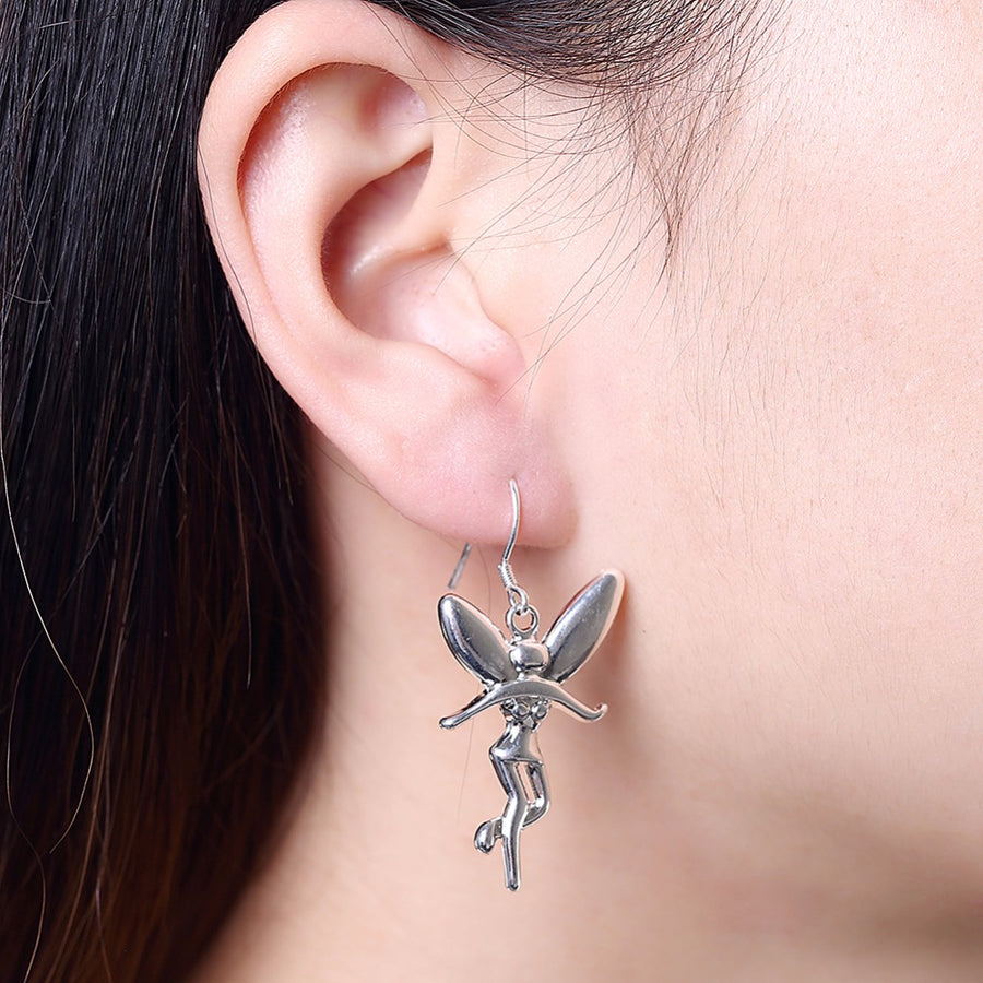 Pixie Dust Silver Fairy Earrings