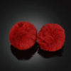 Image of Ear Puffs Fuzzy Pom-Pom Stud Earrings