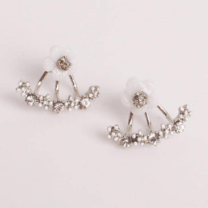Peek-A-Boo Posies Flowered Stud Earrings & Jacket