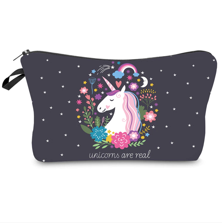Graphic Design Zipper Pouch Clutch