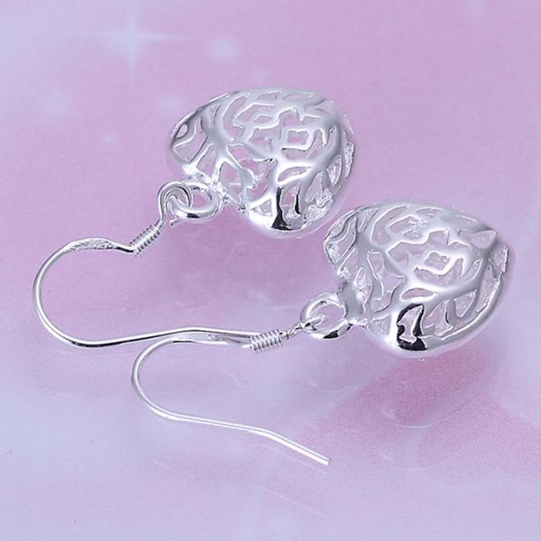 Cut Out Fancy Puffed Heart Earrings