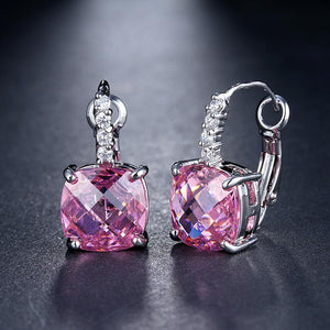 Pure - IOBI Crystals Royal Pink Drop Earrings