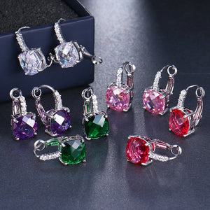 Pure - IOBI Crystals Royal Diamond Drop Earrings