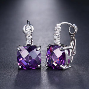 Pure - IOBI Crystals Royal Purple Drop Earrings