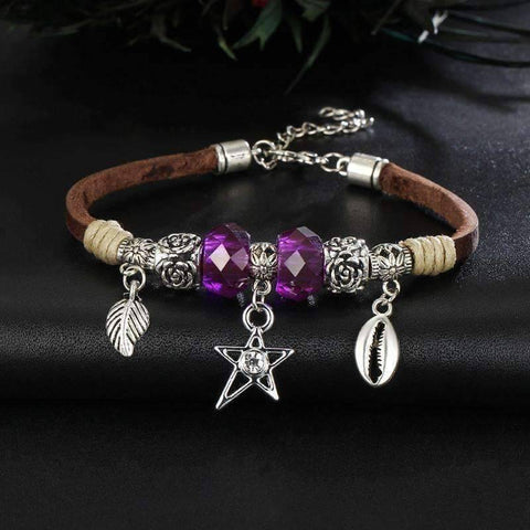 Bright And Shiny Boho Leather Bracelet