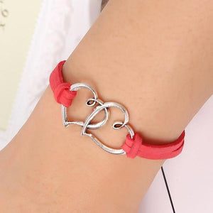 Sweet Hearts Suede Friendship Bracelet in Eight Colors