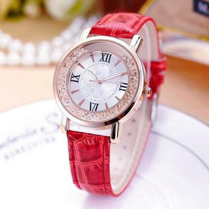 ON SALE - Free Falling Crystal Bezel Wrist Watch