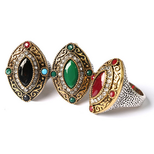 ON SALE - Renaissance Era Bejeweled Cocktail Ring