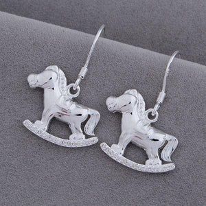Rocking Horses Silver Earrings