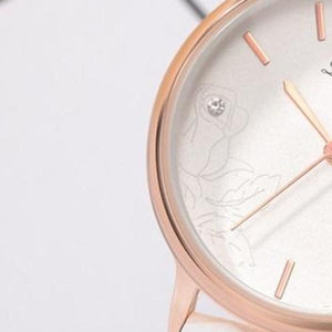 Rose Etched Ladies Wrist Watch
