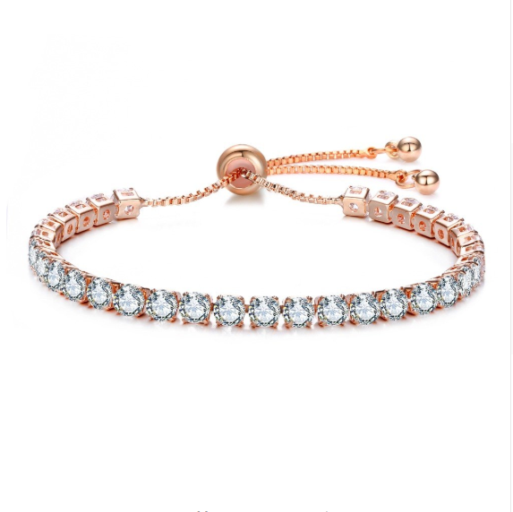 Luxurious Lariat Adjustable Swiss CZ Tennis Bracelet