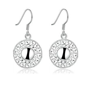 CLEARANCE - Soleil Silver Drop Earrings