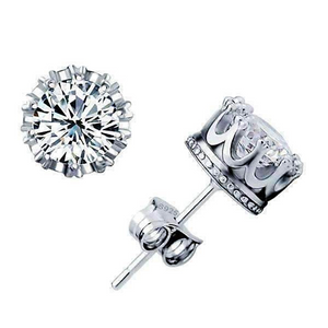 Royal Crown IOBI Crystals Stud Earrings