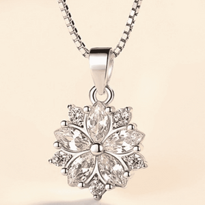 ON SALE - Azalea Blossoms Cubic Zirconia Necklace