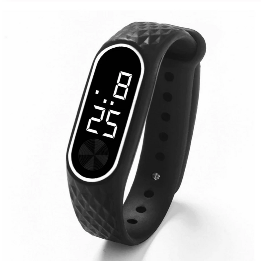 Slim Fit Digital Silicone Sport Watch