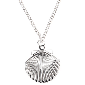 Shiny Seashell Locket Necklace