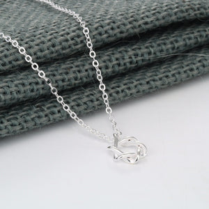 Soft Curves Star of David Sterling Silver Necklace