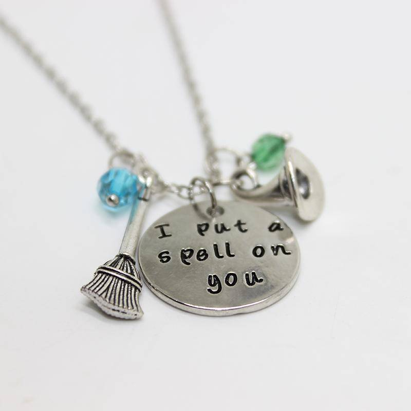 I Put A Spell On You - Stamped Sentiment Necklace