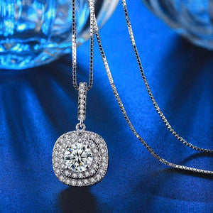 Halcyon Austrian Crystal Double Halo Necklace