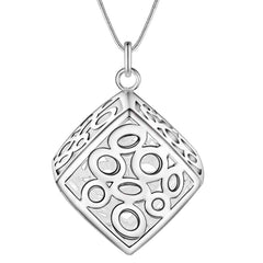 Be Square Sterling Silver Necklace & Earrings Set