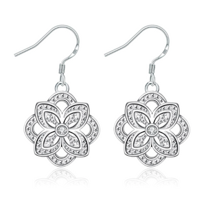 Parisian Petals Silver Earrings
