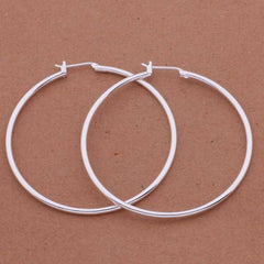 Happy Hoops 5cm Sterling Silver Hoop Earrings