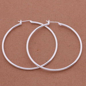 Happy Hoops 5cm Silver Hoop Earrings