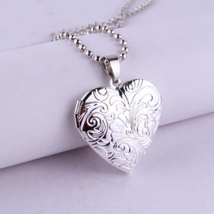 Tendrils Heart Locket Necklace