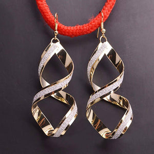 Textured Twirls Spiral Earrings For Woman