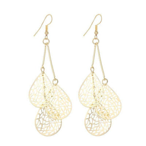 Dangling Mesh Drops Earrings in Gold or Silver