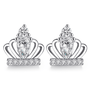 Tiny Tiaras CZ Stud Earrings