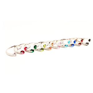 CLEARANCE - Double Glimmer 2 Stone Ring - Choose Your Color