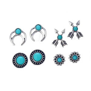 ON SALE - Mix & Match Totems Four Piece Earring Ensemble