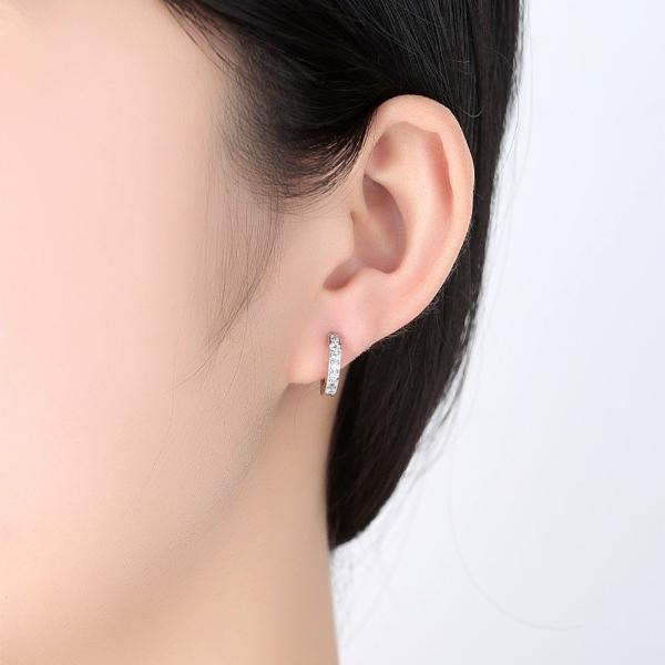 Touch of Sparkle CZ Huggie Hoop Earrings
