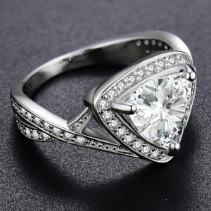 Eleganza 1.75CT Trillion Zirconia Ring