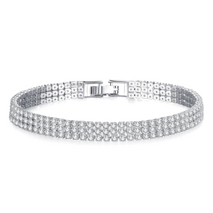 Triple Luxe 2mm Swiss CZ Tennis Bracelet