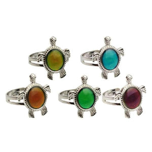 Turtle Color Changing Adjustable Mood Woman Ring