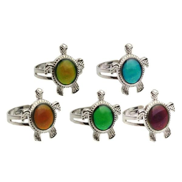 ON SALE - Turtle Color Changing Adjustable Mood Ring