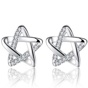 ON SALE - Tiny Twinkle Stars CZ Stud Earrings