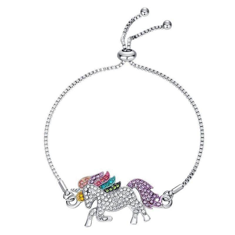 Rainbow Crystal Unicorn Bracelet