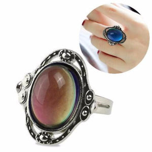 Vintage Cabochon Color Changing Adjustable Mood Ring