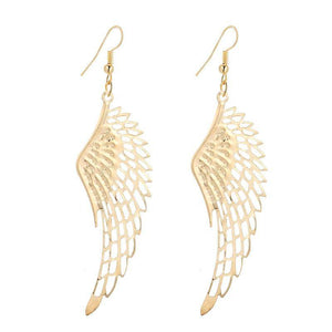 Dangling Wings Earrings in Gold or Silver