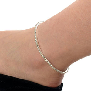 Rhinestone Stretch Anklet  For Woman In Three Color Choices