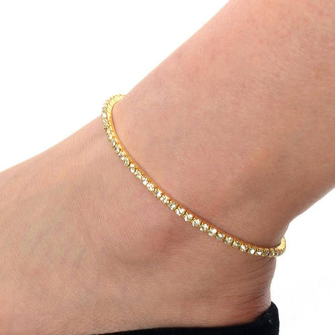 ON SALE - Rhinestone Stretch Anklet In Three Color Choices