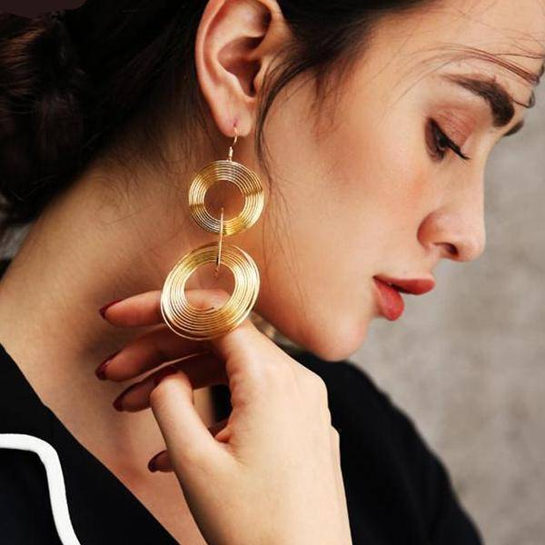 Coiled Wire Earrings in Silver or Gold