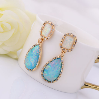 ON SALE - Drops of Jupiter Iridescent Dangling Earrings